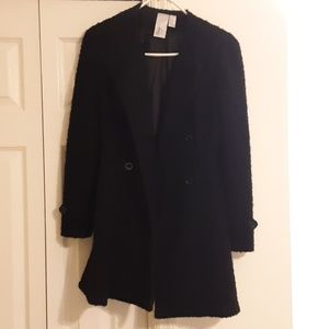 Forever 21 black wool coat